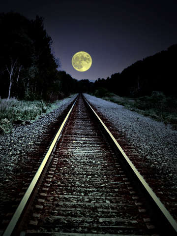 Tracks to the moon