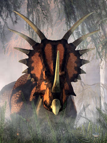 Styracosaurus in the forest