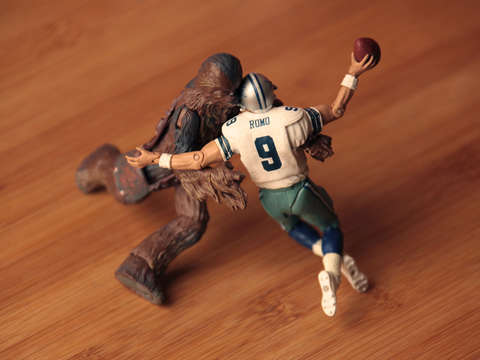 Chewbacca sacking tony romo
