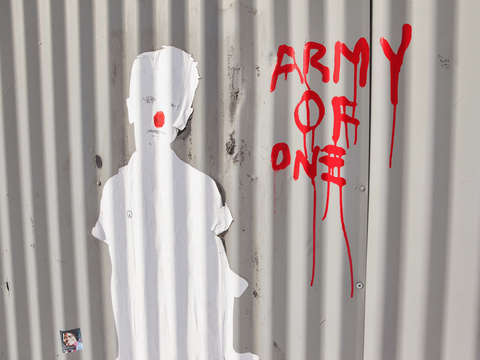 Army of one graffiti