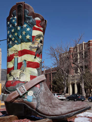 Giant boot in cheyenne