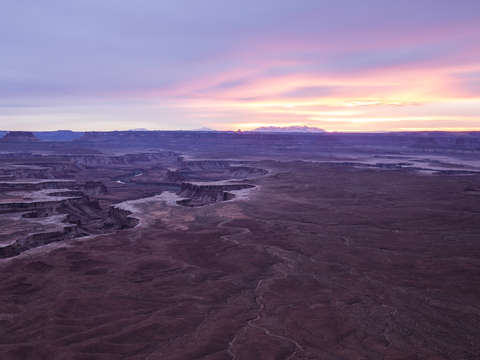 Sunset over canyonlands
