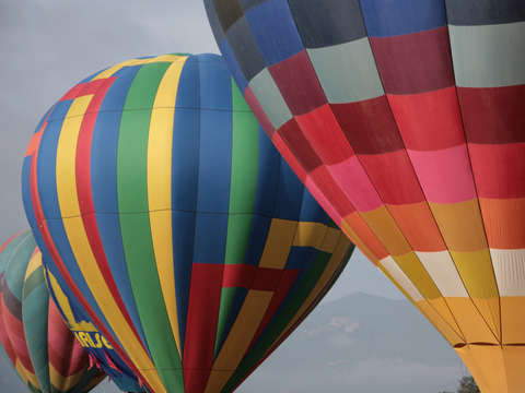 Big Colorful Hot Air Balloons