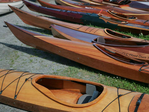 Canoes at mystic seaport