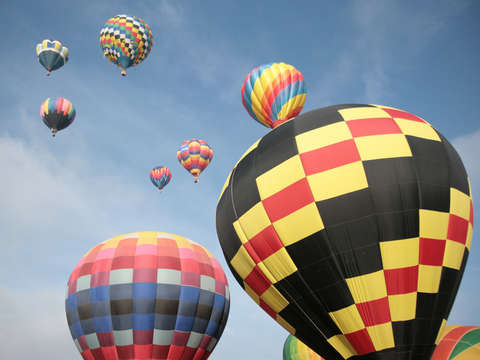 Hot air balloons in colorado springs