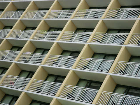 Yellow balconies