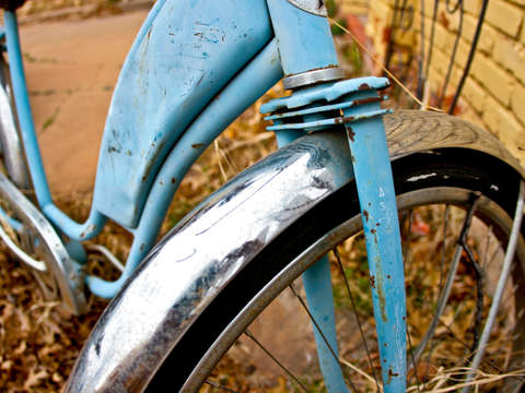 Faded blue bike