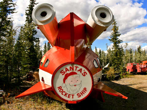 Santas rocket ship in tok alaska