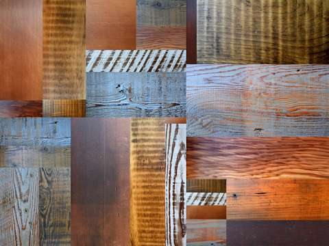 Reclaimed wood abstract 40