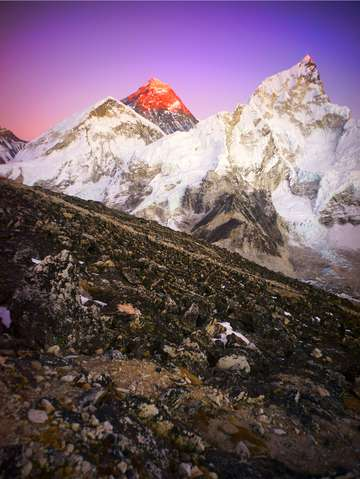 Christmas Sunset Over Everest