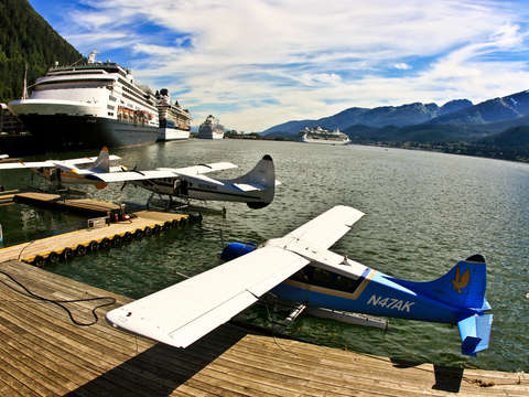 Seaplanes and cruise ships