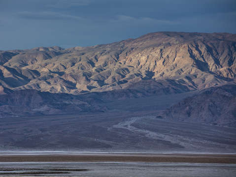 Morning light on the panamint range