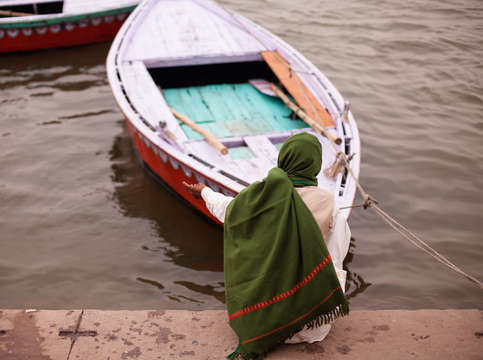 Praying on the ganga