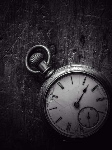 Pocket watch black and white