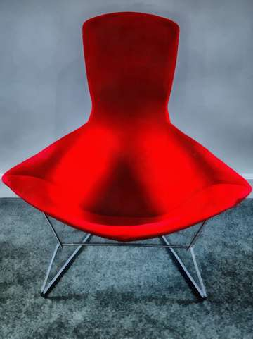 Mid century modern red chair