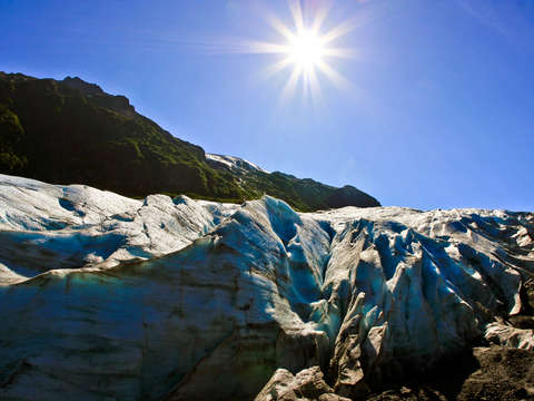 Exit glacier at kenai fjords national park