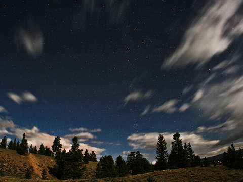 Stars clouds over twin lakes co
