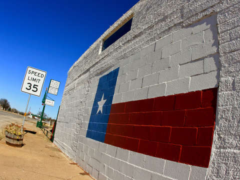 Texas flag wall mural