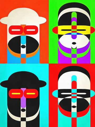 Pop Art People Quatro Color 1