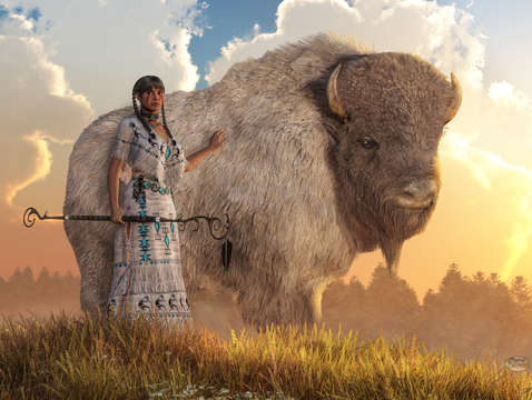 White buffalo calf woman