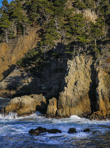 Point lobos cliffs