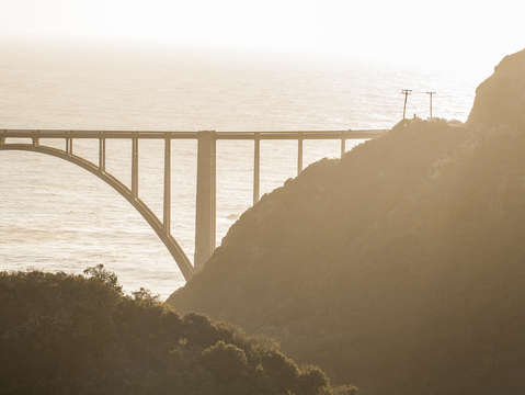 Bixby bridge at sunset