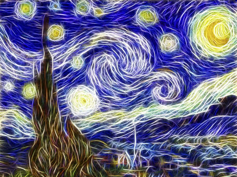 The starry night reimagined