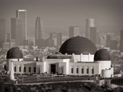 Griffith Observatory Black and White