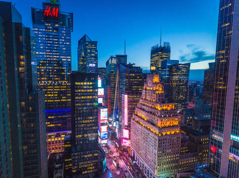 Times square twilight