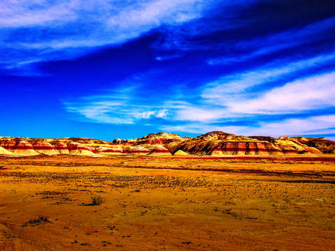 The painted desert hills
