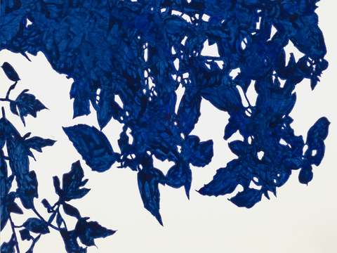 Royal Blue Leaves II
