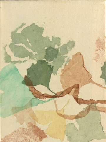 Gingko triptych panel 2