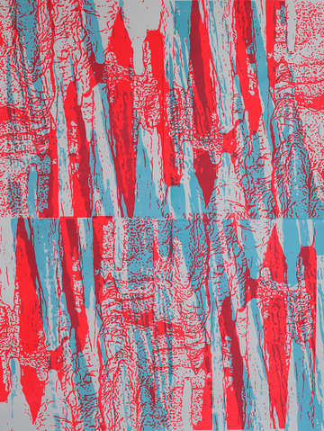 Fluorescent red endless blue grand