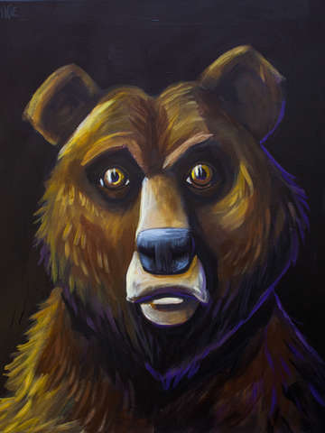 Grizzly night study