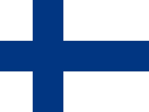 National flag of finland authentic
