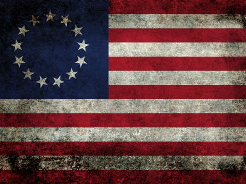 The betsy ross flag in super grunge