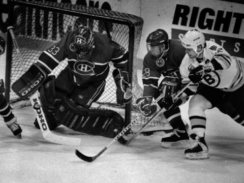 Bruins oates vs canadiens roy