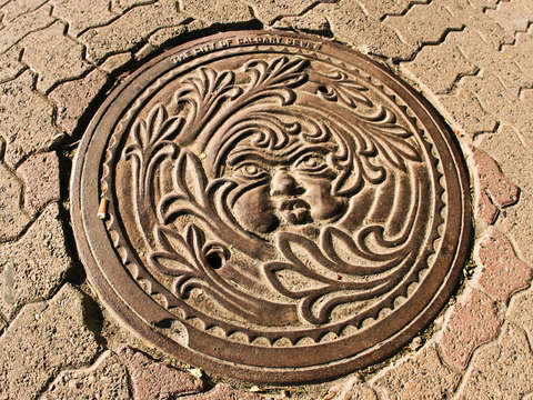 Calgary sewer cover