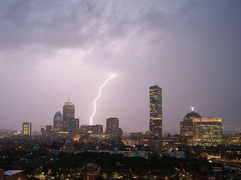 Lighting through boston