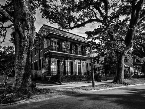 Southern Home on St Anthony Street in Mobile Alabama V2 in Black and White