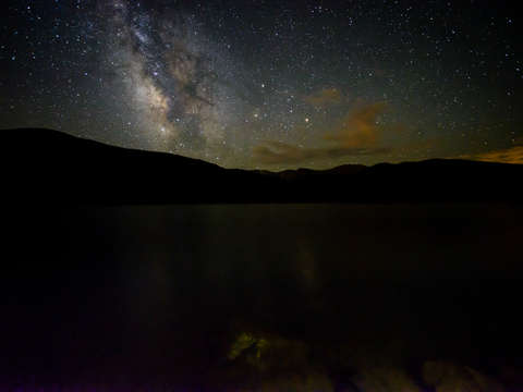 The milky way over echo lake