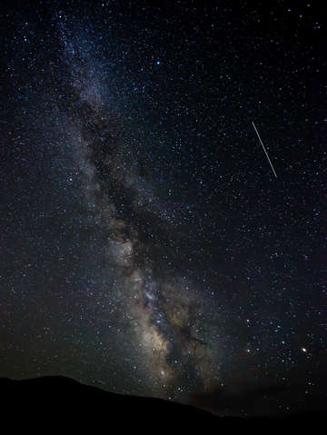 Shooting star and the milky way
