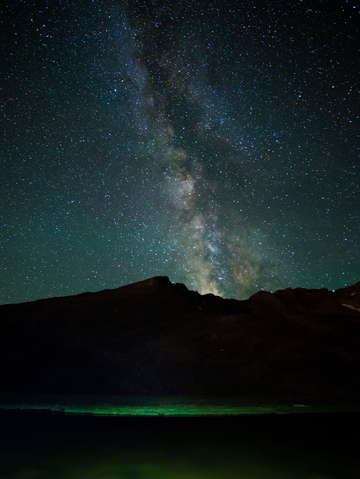 Summit lake and the milky way