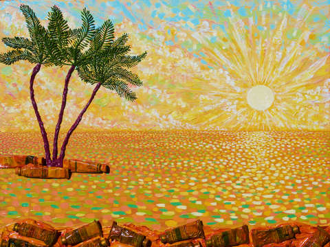Artists tropical sunset