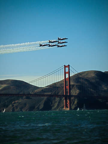 Blue angels golden gate bridge