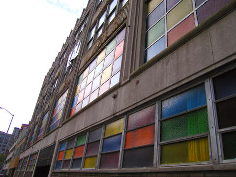Colorful windows in detroit