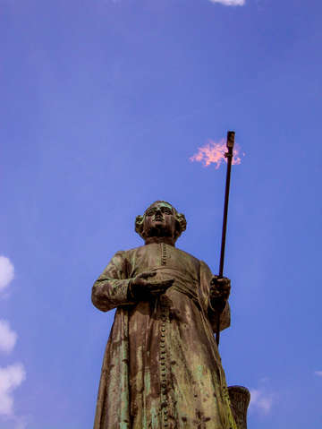 Statue with torch