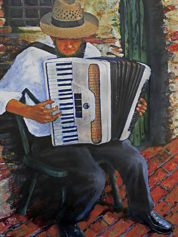 Chromatic accordionist