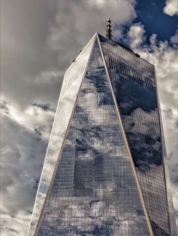 World trade center and clouds