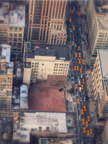 Nyc cabs from above